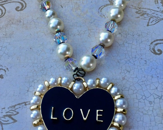 Jewelry, Necklaces, Swarovski Necklace, Wedding Jewelry, Vintage Jewelry, Necklace for Women, Heart Necklace, Pearl Necklace, Gifts For Her