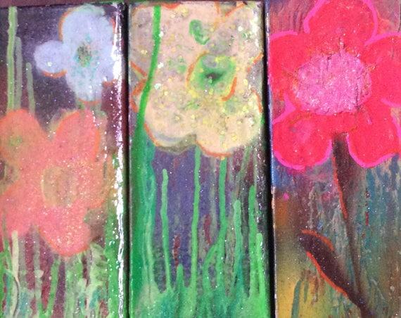 Art, Painting, Original Painting, Spraypaint Art, Flower Art, Art on Canvas, Floral Art, Street Art, Graffiti Artwork by Shannon Ruther