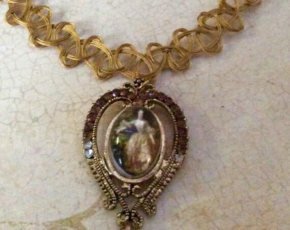 Handmade Cameo Choker Necklace for Women, Victorian Necklace, Unique Necklace, Lady Cameo Necklace, Choker Necklace for Women
