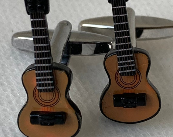 Handmade Guitar Cuff Links, Gifts for Men, Suit and Tie Accessories