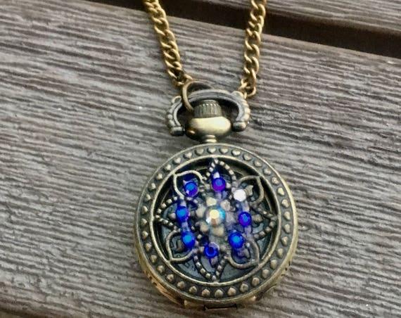 Vintage Pocketwatch, Accessories, Unique Gifts, Watch, Victorian, Mini Pocketwatch, Antique Pocketwatch, Locket, Most Popular