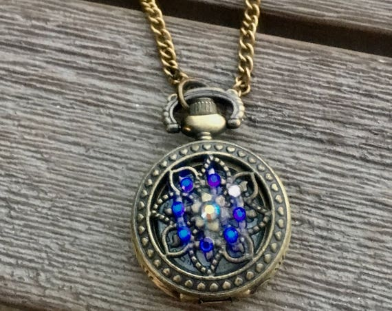 Handmade Pocket Watch Necklace for Women