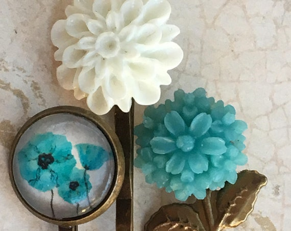 Accessories, Hair Accessories, Hair Pins, Bath & Beauty, Bobby Pins, Hair Pins, Flower Hair Pins, Rose Bobby Pin