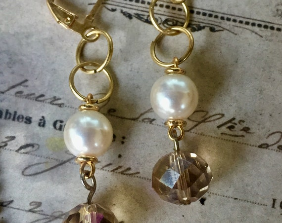 Jewelry, Earrings, Dangle & Drop Earrings, Vintage Style Earrings, Pearl and Bead Earrings, Earrings for Women, Vintage Earrings, Wedding