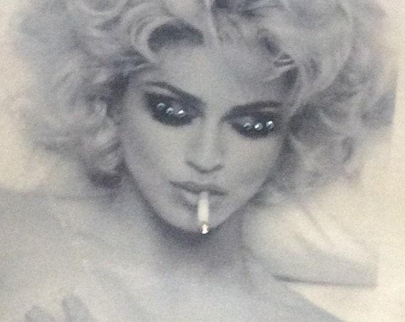 Handmade Madonna Women's T-Shirt, Madonna Tank Top, Custom Tops and Tees, Tank Top for Women, Madonna T-Shirt, Women's Shirt