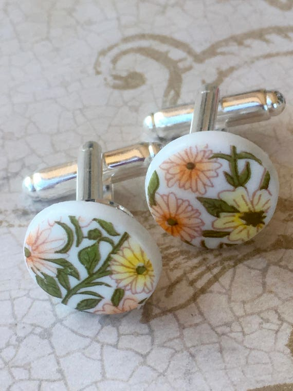 Men's Cufflinks, Cufflinks, Vintage Cufflinks, Accessories For Men, Flower Cufflinks, Cufflink, Cufflinks for Men