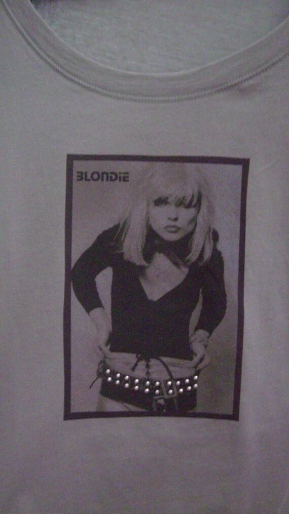 Clothing, Women's T-Shirts, Tops and Tees, Blondie T-Shirt, Debbie Harry Shirt, Shirts for Women, Fashion Shirt, Handmade Rock Shirt