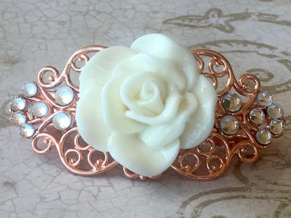Hair Accessories, Hair Barrette, Hair Clips, Flower Hair Clip, Rose Barrette, Wedding Hair Accessories