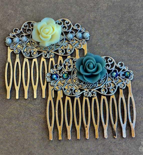 Accessories, Hair Accessories, Decorative Combs, Bath and Beauty, Hair Combs,  Rose Comb, Flower Combs, Swarovski Crystal Hair Combs