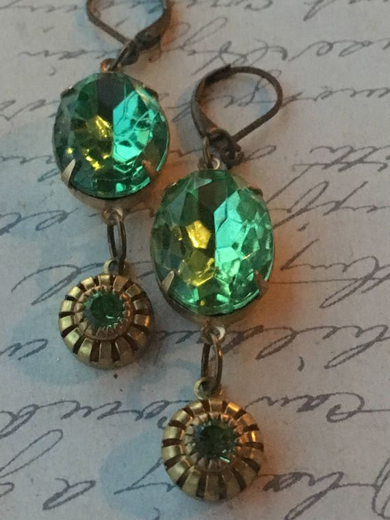 Earrings for Women, Swarovski Earrings, Crystal Earrings, Vintage Jewelry, Vintage Earrings