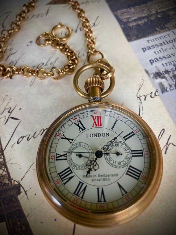 Pocketwatch for Men, Groomsmen Gifts, Wedding Gifts, Best Man Gifts, Steampunk Jewelry, Gifts for Men