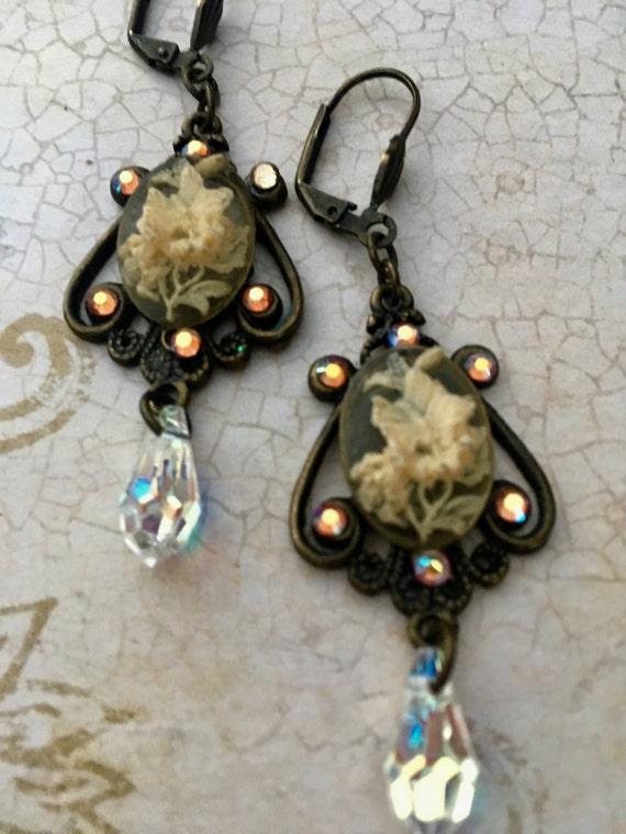 Jewelry, Earrings, Vintage Earrings, Dangle & Drop Earrings, Swarovski Crystal Earrings,