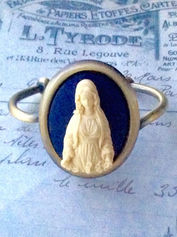 Jewelry Bracelet Guadalupe Religious Cameo Bangle Bracelet