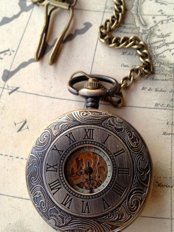 Accessories Men Watch Steampunk Pocketwatch Mens Accessories Vintage Inspired Victorian Romantic Inspired Bronze Pocket Watch