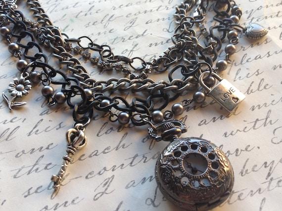 Jewelry Necklace Lockets Charm Steampunk Pocket watch Vintage Victorian Steampunk Romantic Inspired