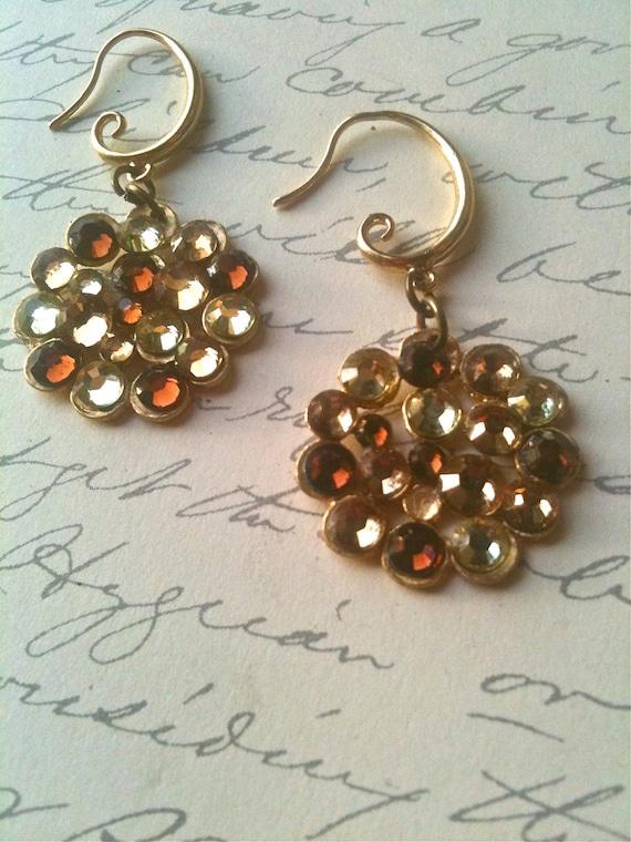 Crystal Earrings, Vintage Style Earrings, Swarovski Crystal Earrings, Circle Earrings, Earrings for Women, Jewelry, Earrings
