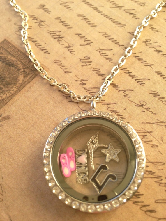 Floating Locket, Floating Charms, Floating Lockets, Floating Charm Lockets, Floating Locket Charms, Dance Charm Necklace, Dance Themed Charm