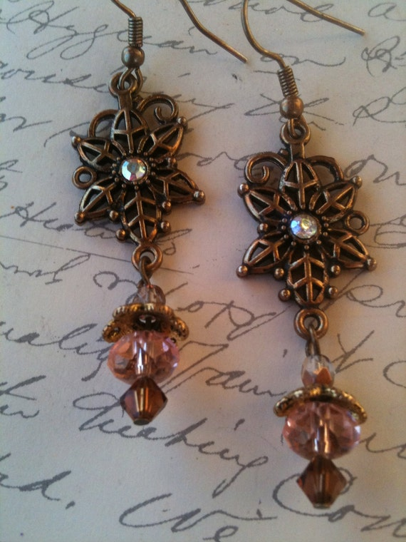 Jewelry, Earrings for Women, Vintage Inspired, Swarovski Crystal