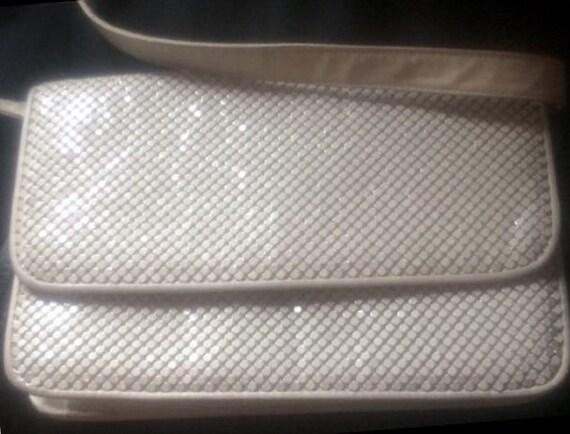 Whiting and Davis, Authentic, Bags and Purses, Shoulder Bags, Mesh Handbag, White Purse, Vintage Bag, Wedding Purse, Classic Purse