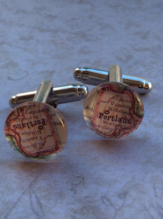 Suit and Tie, Jewelry, Cufflinks for Men, Cuff Links & Tie Clips, Map Cufflinks, City, Wedding Cufflinks, Accessories for Men, Unisex