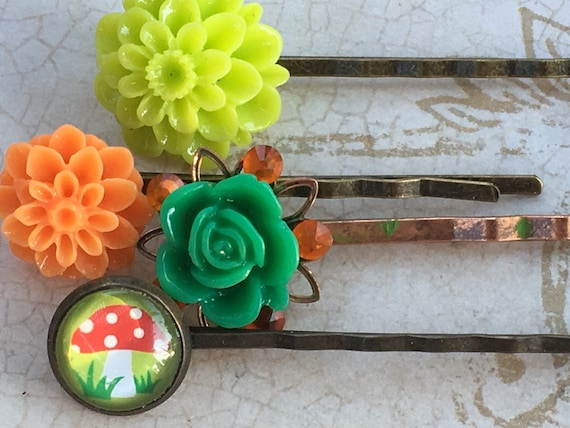 Hair Accessories, Bobby Pins, Picture Hair Pins, Flower Bobby Pins, Hair Pins, Flower Hair Pins, Rose Bobby Pin