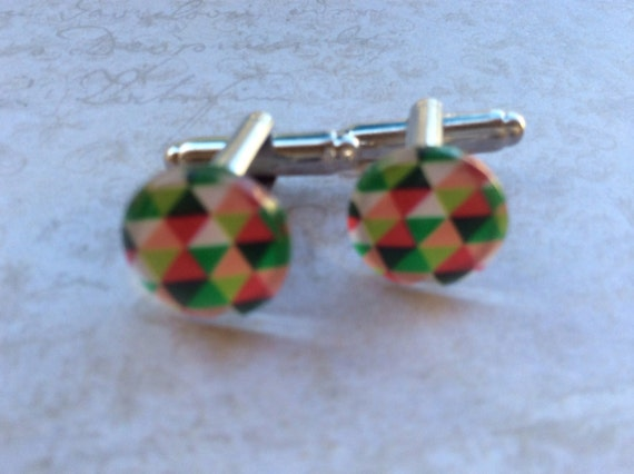 Men's Cufflinks, Multicolor Cufflinks, Men's Accessories, Cufflinks For Men and Women, Unisex Cufflink