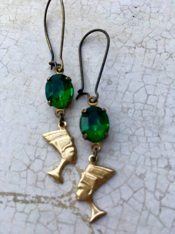 Jewelry, Earrings Crystal Earrings, Swarovski Earrings, Nefertiti Earrings, Charm Earring, Hollywood Glam