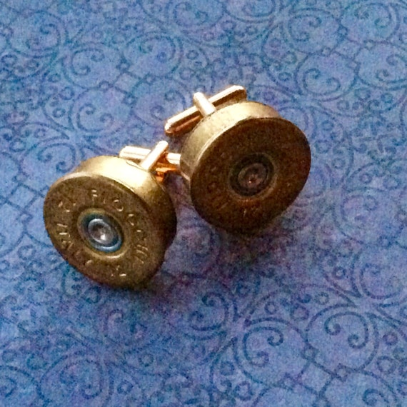 Cufflinks Recycled Shotgun 12 gauge Head Caps ammo Bullet Steampunk Men's Women's Unisex
