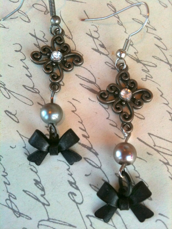 Dangle & Drop Earrings, Vintage Style Earrings, Bow Earrings, Earrings for Women, Vintage Earrings, Steampunk Earrings