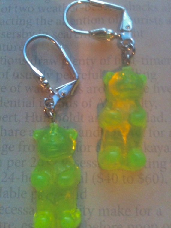 Childrens Jewelry Earrings Girls Vintage Gummy Bear Earrings