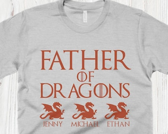 b03b63ac Father Of Dragons T Shirt Personalized Fathers Day Gifts Game Of Thrones  Shirt Dad Gift Dad Shirts Dragon Shirt Husband Gift Daddy Shirt