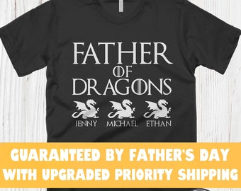 6a37b541 Personalized Fathers Day Gift Shirts Game Of Thrones Shirt Father Of Dragons  T Shirt Funny Dad Gift Dad Shirt Husband Gift Funny Father Tees