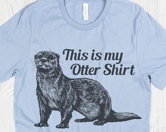 2ad7f6eb731 Otter shirt | Etsy