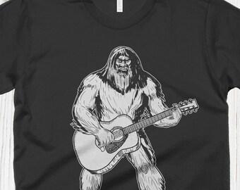 a59de518f Bigfoot Playing Guitar T Shirt, Sasquatch Shirt, Vintage T Shirt, Graphic  Tees, Guitar Gifts, Band Shirt, Guitarist Gift, Camping Music