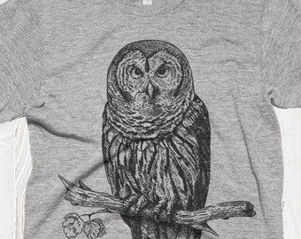 Winter Owl Kids Print Graphic Tee Short Sleeve T-Shirt