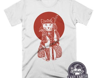 abfd3475 Cat TShirt | Samurai Shirt | Cat Lover Gift | Funny Cat Shirt | Japanese T  Shirt | Funny Tshirts | Womens Shirts | Mens Shirt