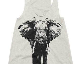 4e0744aa2046e0 ON SALE Women s Racerback Tank - Elephant - Womens Athletic Workout Tank -  Running Tank - Elephants Gift Tank Top Gift Ideas For Her Girlfri