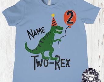 4363a6920 Dinosaur Birthday Shirt, Personalized Birthday Party Shirts, 1st Birthday,  2nd, 3rd, 4th Birthday Custom Dino Tees, Kids T Rex Tshirt