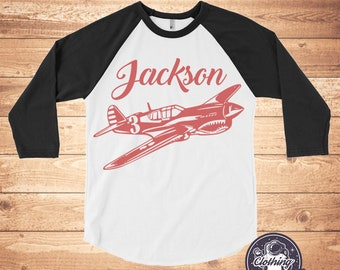 a181b0c3d Airplane Personalized Shirt, Gifts, Boys, Girls, Name and Age Gift, Airplane  Birthday Shirt, Aviator Gifts, Co Pilot Shirt, Kids Tshirts