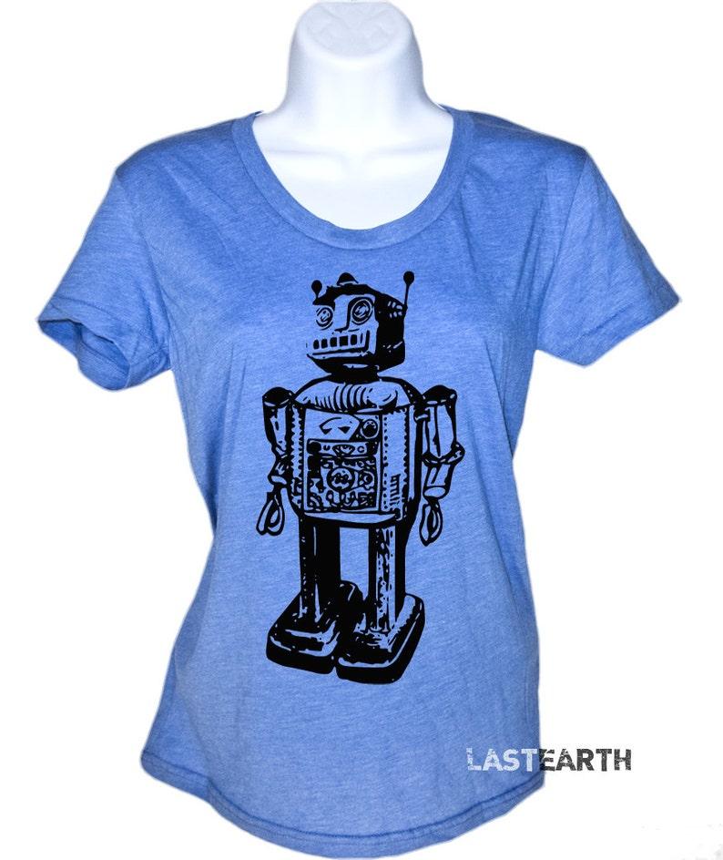 9cb38d37e Robot Tech Vintage Science Computer Geek Funny T-Shirt Nerdy | Etsy