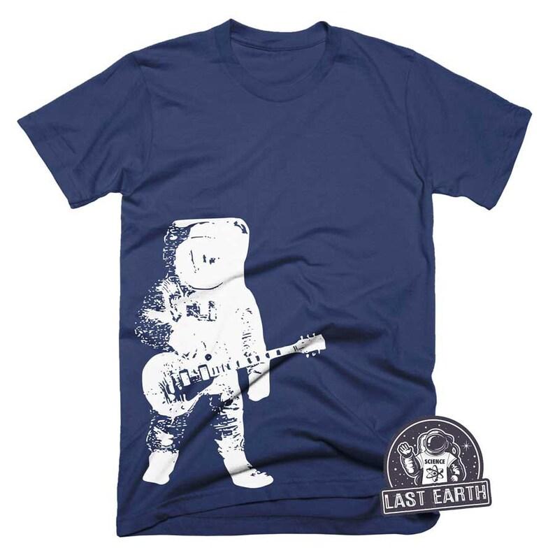 4b6d1c6f7d0f8 Astronaut with Guitar T-Shirt Moon Shirt Cool Guitar Shirt