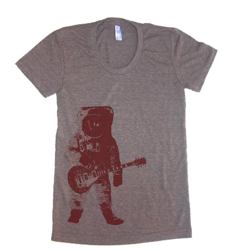 b678d80fda973 Astronaut Guitar Outer Space T-Shirt T Shirt Music Tree Roots
