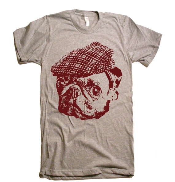 The Mountain Mens Graphic Printed Tee Pug Face T-shirt Adult Size