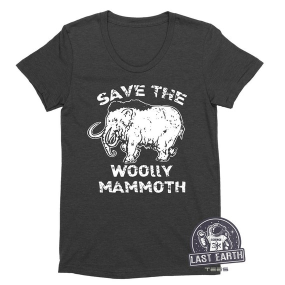 949729c33 Save The Wooly Mammoth Womens Ladies Vintage Soft Shirt