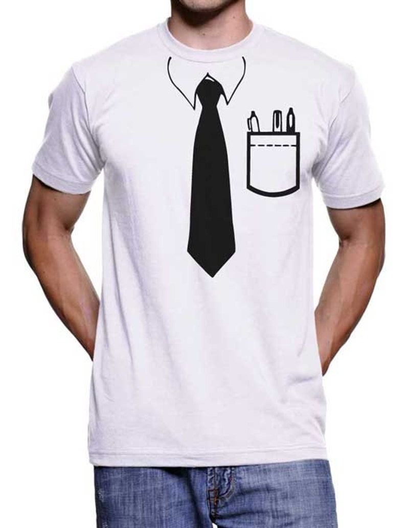 2f4440f92af93 On Sale Mens Tie T-Shirt Geek Gifts Womens Graphic Tees Funny