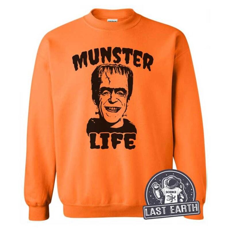 a6265b56ede1 Munster Life Sweatshirt Frankenstein Monster Sweater Vintage