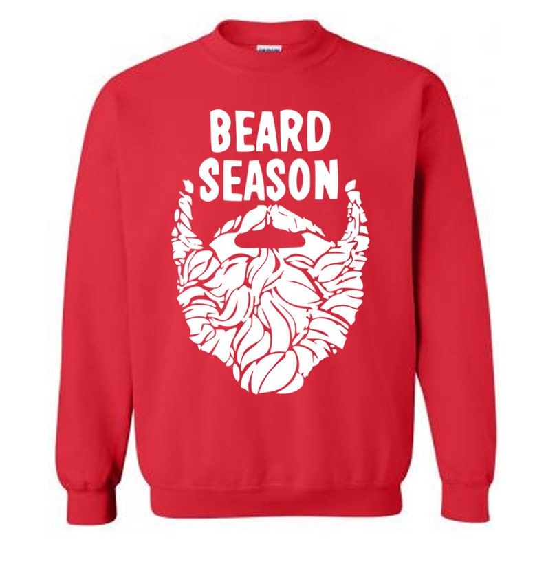 e0e8f9540 On Sale Beard Season Funny Christmas Sweater Flex Fleece
