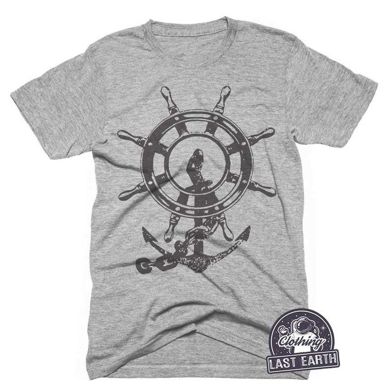 13dd80a4a Anchor T-Shirt Nautical Graphic Tee Mens Womens Tank Top | Etsy