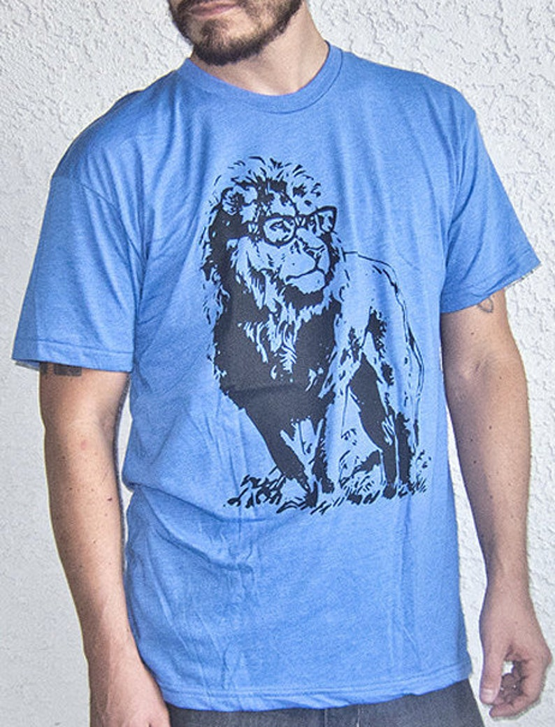 72cfff0be6ea3 Lion Professor T Shirt - Mens Tshirt - Womens Graphic Tees - Mens Tshirt -  Novelty Gifts Funny Animal Tees