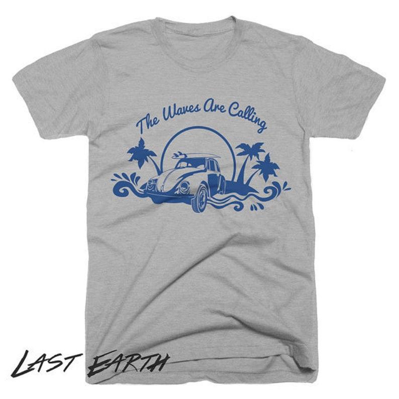 22f29d0ec Waves Are Calling T-Shirt Slogan Shirt Beach Bum Tshirt   Etsy